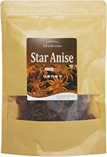 52USA Star Anise Seeds (Anis Estrella) 4OZ, Whole Chinese Star Anise Pods, Dried Anise Star Spice, Star Anise Seed Pods Wh...