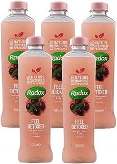 5x Radox Feel Detoxed Acai Berry Scent & Clay Bath Soak 500mL