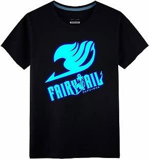 Poetic Walk Fairy Tail Cosplay Costume Cotton Luminous Tshirt Tee