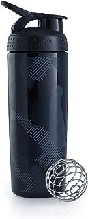BlenderBottle SportMixer Signature Sleek Shaker Bottle, Shattered Slate Black, 28-Ounce