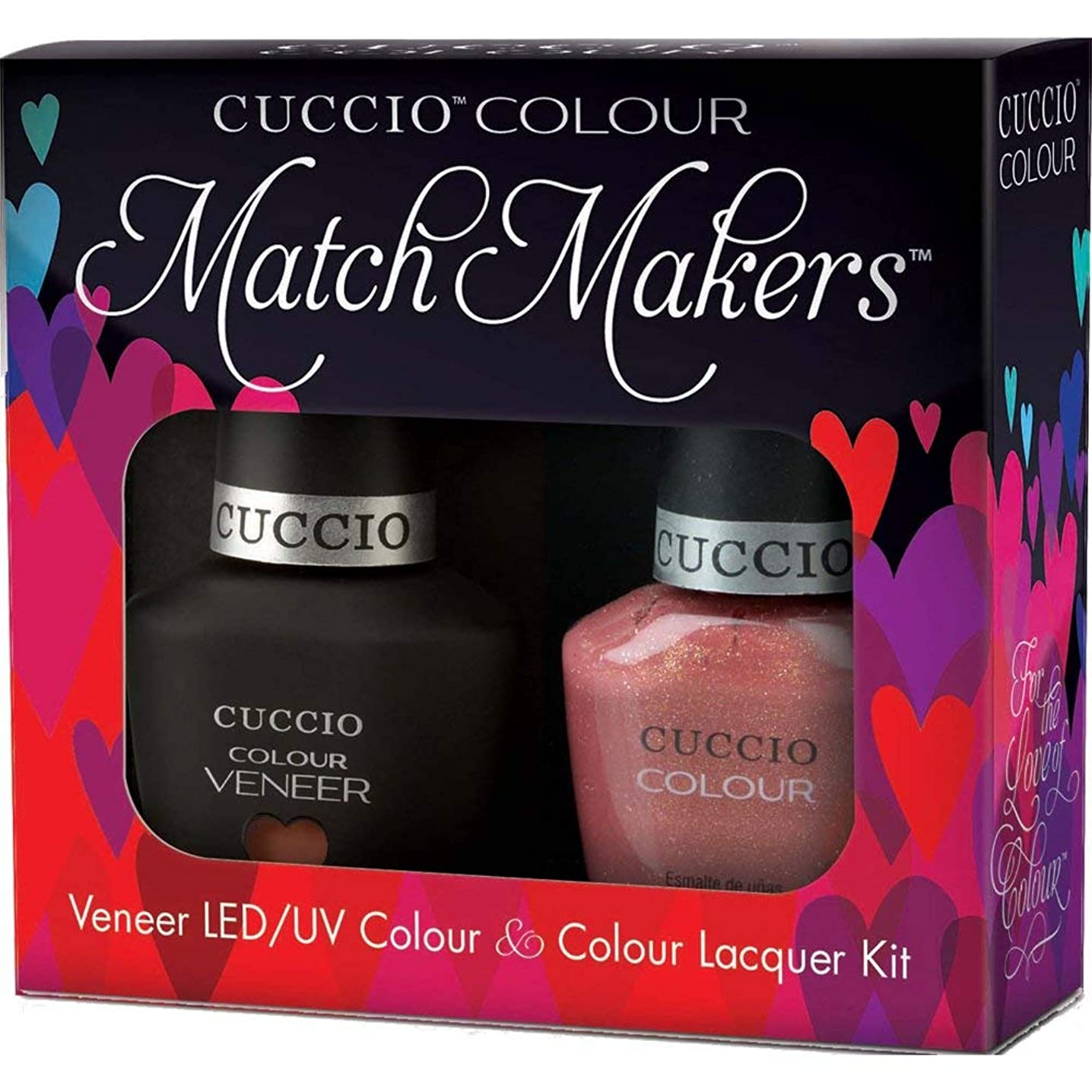 専門貞寛容なCuccio MatchMakers Veneer & Lacquer - Blush Hour - 0.43oz / 13ml Each