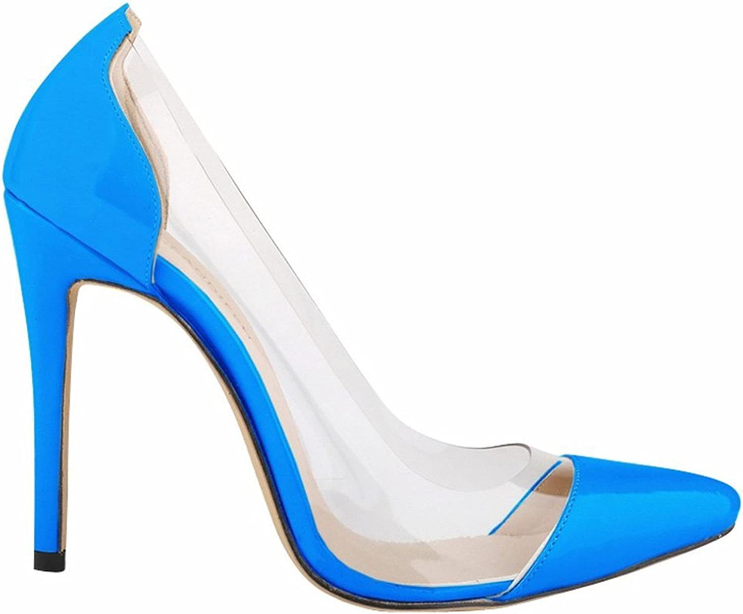 WANabcMAN Comfortable Women's Solid color Pointy High Heels Pump shoes