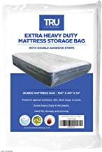 TRU Lite Mattress Storage Bag - SEALABLE Mattress Bag for Moving - Heavy Duty Extra Thick 4 Mil Plastic - Fits Standard, E...