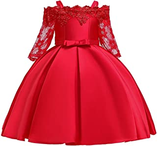 3-10 Years Girls Formal Pageant Dance Party Lace Tutu Flower Girl Dress