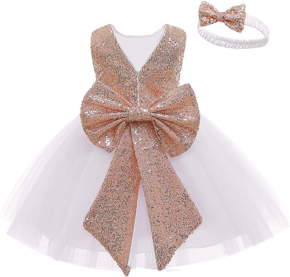 LZH Flower Girl Dress Baby Regular store Party Sequin Kids Boston Mall Toddlers Tutu