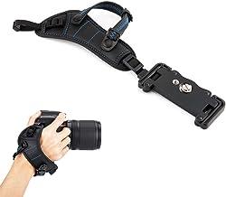JJC–Correa de mano correa para la muñeca Grip con U tipo placa para cámara réflex digital Canon Nikon Olympus Sony Panasonic Pentax