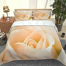 3D Parure de lit Set de Housse de Couette en Une Rose Taille (220x240cm), Ensemble 3 pièces, 1 Housse de Couette + 2 taies...