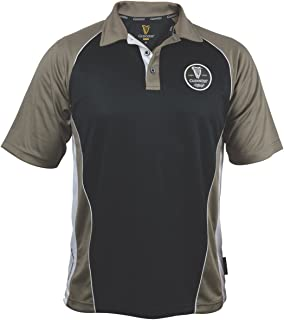 Guinness Brown Paneled Performance Golf Shirt with Official Guinness Harp Embroidery Logo