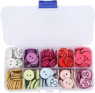 Botões de resina, botões decorativos de superfície ecológicos com caixa de armazenamento para roupas infantis para artesan...