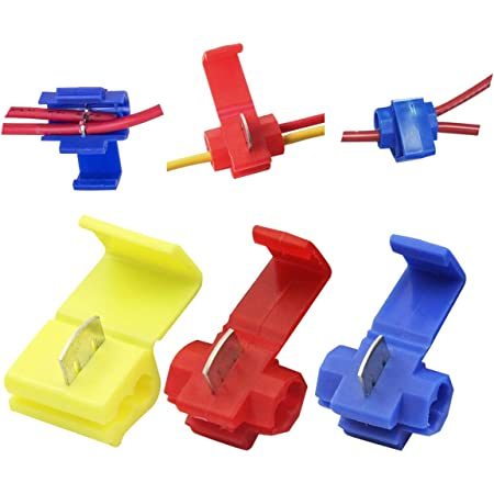 200 PCS 10-12 QUICK SPLICE WIRE CONNECTORS YELLOW Instant Tap TERMINALS USA MADE