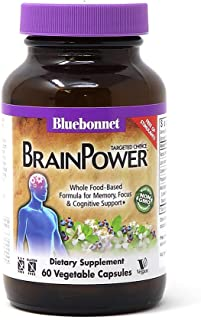 Bluebonnet Nutrition Targeted Choice Brain Power, Memory, Focus & Cognitive Support Whole Food-Based Formula, Brain Health...