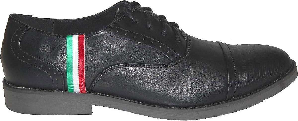 KRAZY SHOE ARTISTS Colors Leather Lined Upper Men's Black Oxfords