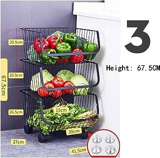 KOKOF Rangement et Organisation de la Cuisine Étagère à légumes de Cuisine en Acier Inoxydable 304 sur Pied Étagère à légu...