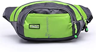 YWSCXMY-AU New Men Women Waterproof Waist Packs Casual Belt Pack Zip Bag (Color : Green)