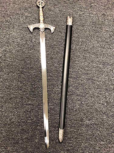AS Sports 38' Medieval Crusader Knight of Templar Celtic Royal Claymore Metal Sword LARP Xmas Gift Collection Series