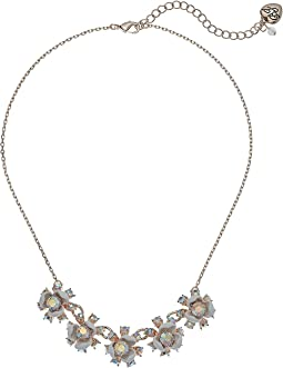 Betsey Johnson White Flower Frontal Necklace