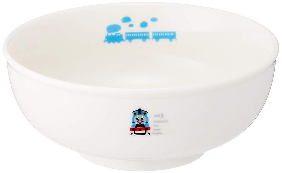 盆可聴チャップ「 きかんしゃトーマス 」 線路 ラーメン丼 直径14.5cm 子供用 食器 白 662114
