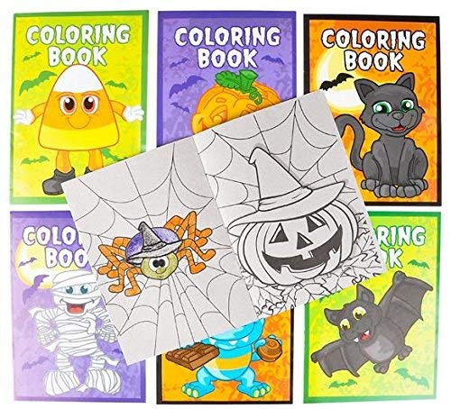 Rhode Island Novelty 36 Halloween Coloring Books 5x7 inch - Halloween Toys and Party Favors, Teal Pumpkin fillers