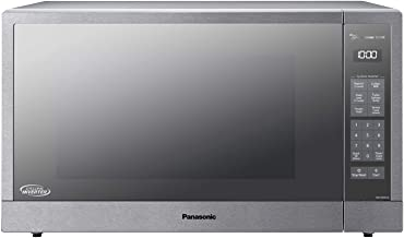 Panasonic Microwave Oven, Stainless Steel Countertop/Built-In Cyclonic Wave with Inverter Technology and Genius Sensor, 2.2 Cu. Ft, 1250W, NN-SN97JS (Silver)