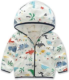 Ian&Sophia Baby Boy's Girl's Toddler Kids Colorful Sunscreen Sunblock Rash Guard Hooded Zip up Jacket