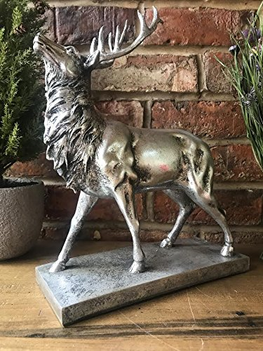giftwarez Vintage Stag Deer Reindeer Antlers Head Decorative Ornament Sculpture Large 37cm