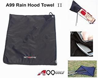 A99 Golf Rain Hood Towel Waterproof Golf Bag Cover Black New