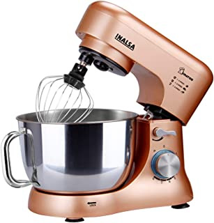Inalsa Stand Mixer Kratos-1000W | 100% Pure Copper Motor| 5L SS Bowl| 8 Speed Control| Tilt Head| Includes Whisking Cone, ...