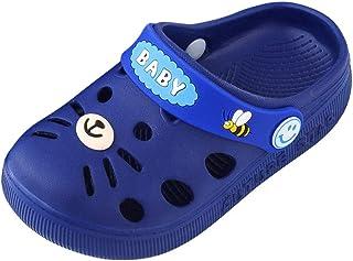 JJHAEVDY Toddler Little Kids Clogs Sandals Cute Cartoon Sandals Boys Girls Summer Slide Beach Water Shower Pool Slippers