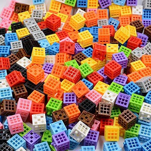 yqs Bloques de Construcción para Niños Bloques de Diamantes Juguete Edificio Cubo construcción de Habilidades motoras Finas contando matemáticas educativas para los niños BBB