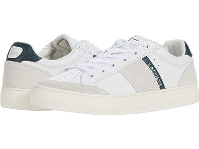 Lacoste Courtline 0120 1 (White/Dark Grey Green) Men