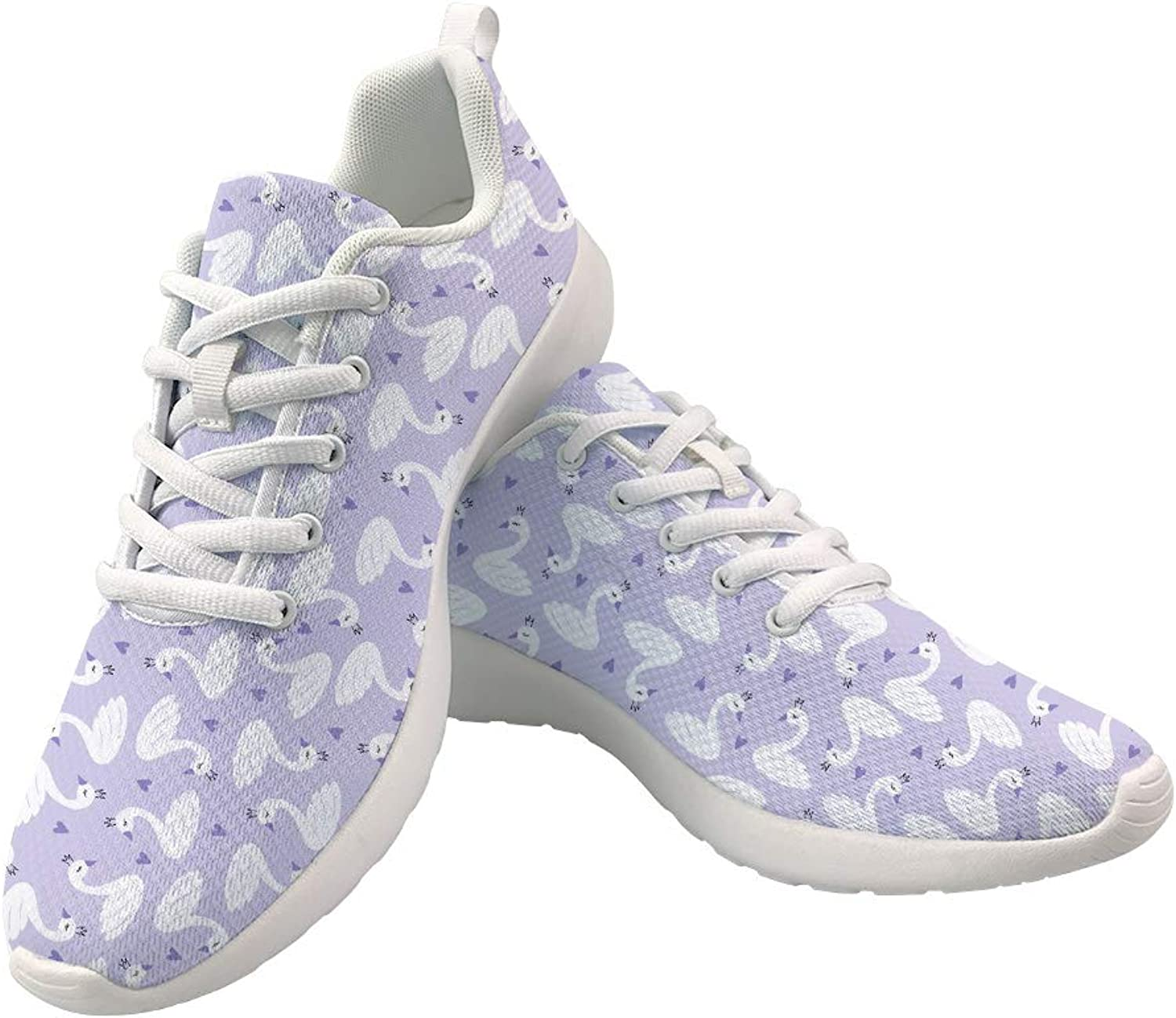 WHEREISART Cute Sneakers Women shoes Light Weight and Breathable Running shoes Unusual and Unique Print Girls shoes Size 6-11