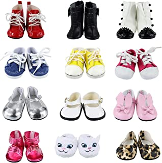 BARWA 18 Inch Doll Shoes 5 Pairs of Shoes Accessories for 18 Inch Dolls - 5 Different Shoes