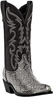 OROSUA Bottes de Cowboy pour Hommes Vintage Motif Fendu Bout Pointu sans Lacet Bottes mi-Mollet Anti-dérapant Talon Bloc A...