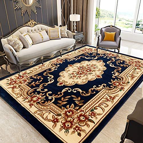 AGEM Teppich Orient teppiche Klassischer Ornamente Muster Webteppich Kurzflorteppich Orientteppich Indoor Carpet (200 x 290 cm)