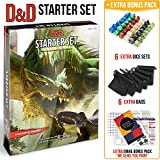 Dungeons and Dragons Starter Set 5th Edition - DND Starter Kit - Dice in Black Bag - Fun DND Rolling Board Games for Adults - New Adult Magic Board Game 5e Beginner Popular Pack Die Book