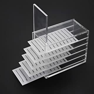 Buqikma Acrylic 5 Layers Clear Eyelash Storage Box False Eyelash Holder Case Makeup Display Container (Eyelash Box)