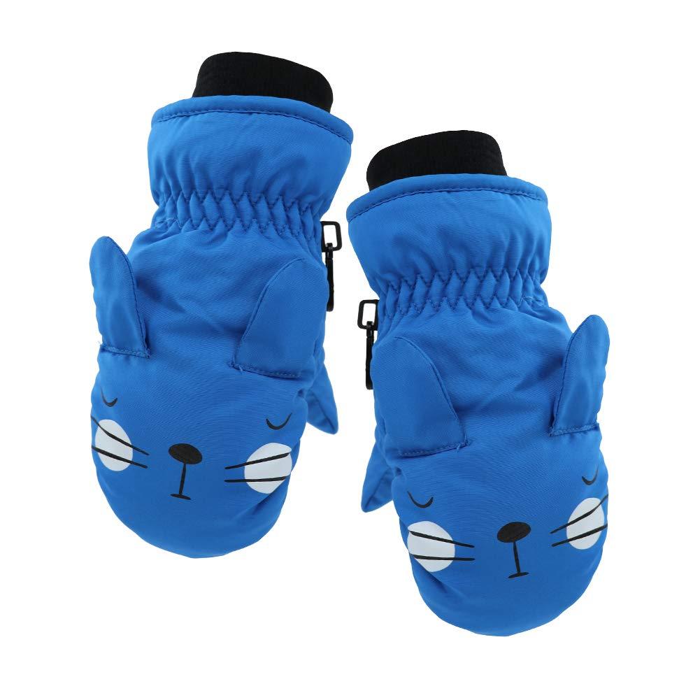 YR.Lover Children Ski Gloves Winter Warm Outdoor Riding Thickening Gloves 2-4Y