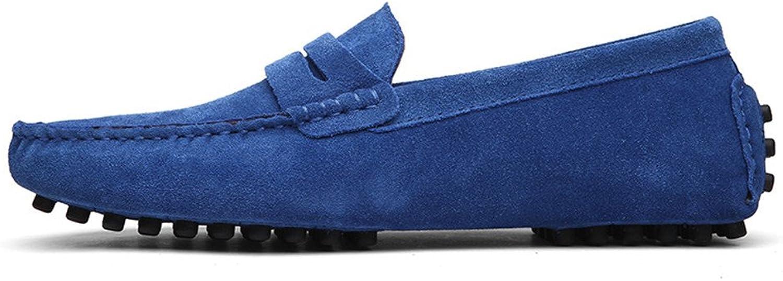 Dazwwjfe Driving Penny Loafers for Herren Wildleder Casual Casual Mokassins Slip-On Stiefelschuhe (Farbe   Sapphire, Größe   48 EU)  angemessener Preis