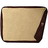 Floppy Dawg Universal Dog Bed Replacement Cover. Removable and Machine Washable Cover for Mattress and Rectangular Pillow Beds. Extra Large 48L x 30W. Brown with Beige Top.