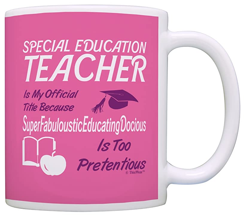 Gift for Special Education Teacher Gift Official Title Gift Coffee Mug Tea Cup Pink