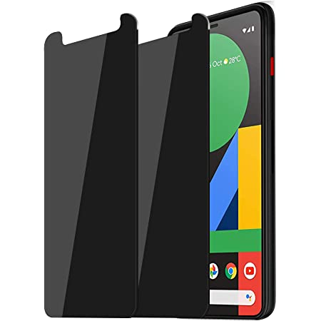 [2-Pack] Google Pixel 4XL Privacy Screen Protector, [Upgraded] Anti-Spy Anti-Glare Anti-Scratch Easy Install Tempered Glass Film Compatible with Google Pixel 4XL 6.3 Inch 2019 - Case Friendly (Black)