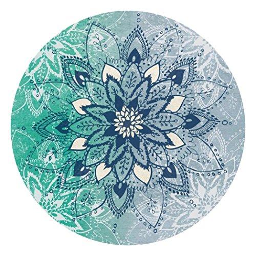 Gaddrt Couverture de serviette de tapis de tapisserie ronde de Bohème pour le yoga de Picnic de plage, 150x150CM (A)
