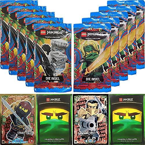 LEGO Ninjago Trading Card Game Serie 6: 50 Karten + 2 Limitierte Bonus Karten (LE4 und LE5)