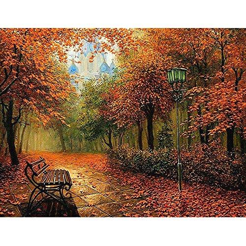 Sensail Peinture de Paysage, Fall Peinture Au Diamant 5D Point de Croix Muraux Décor