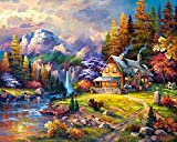 Runfar 5D Diamond Painting Kits for Adults Full Drill Beautiful Scenery Square Rhinestone Embroidery Dotz Craft Cross Stich Gift Home Decor Large Size 40x50cm/16x20inch