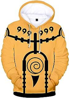 Unisex Manga Larga Anime Naruto Sudaderas con Capucha para Hombres Uchiha Sasuke Cosplay Disfraz