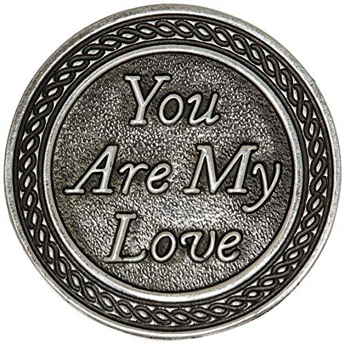 Cathedral Art (Abbey & CA Gift) Ficha de bolso You Are My Love, prata