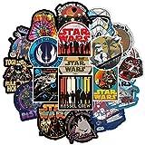 100 Stück Star Wars Aufkleber Wasserflaschen Laptop Telefon Gitarre Skateboard Auto Fahrrad Motorrad Cartoon Film Vinyl Stickers Wasserdicht Ästhetisch Decals für Jugendliche Kinder...