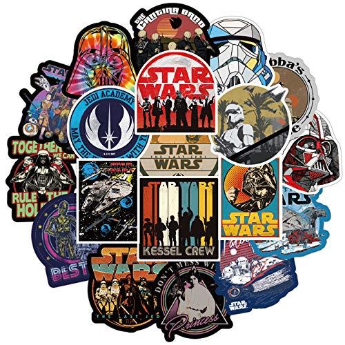 BAIMENG Star Wars Pegatina Doodle monopatín Impermeable Personalidad Maleta Ordenador Pegatina 50 Piezas