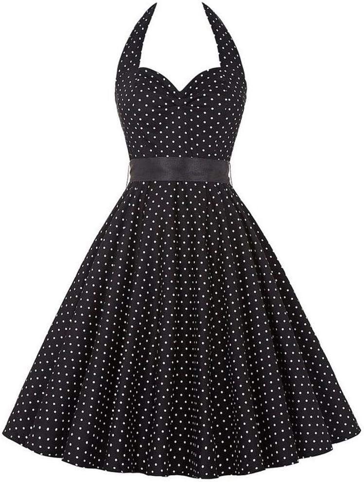 SPNEC Women Print Summer Dress Sexy Halter Retro R New item Sale SALE% OFF Vintage